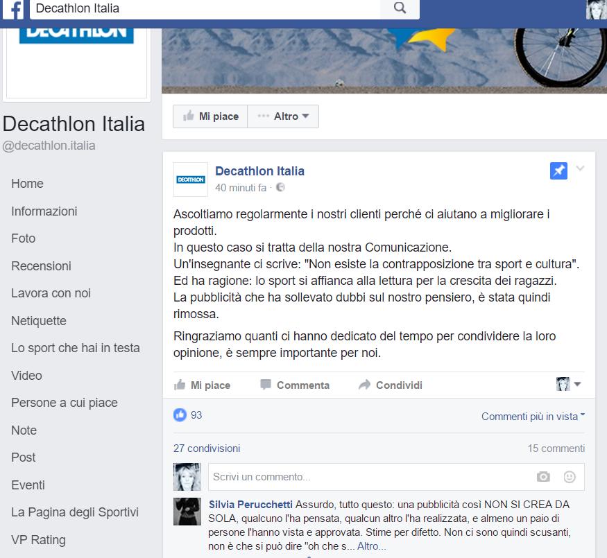 Decathlon risposta cancellazione