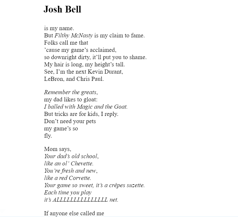 Crossover Kwame Alexander Josh Bell